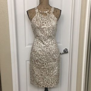 Calvin Klein Macy's Lined Halter Dress 8 NWT
